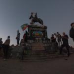 Plaza Didnidad im Vorlauf einer Demonstration